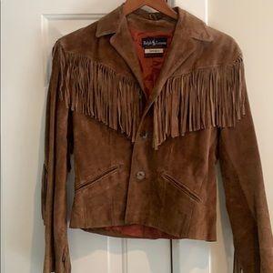 Vintage Jackets & Coats - Vintage Suede Ralph Lauren Jacket
